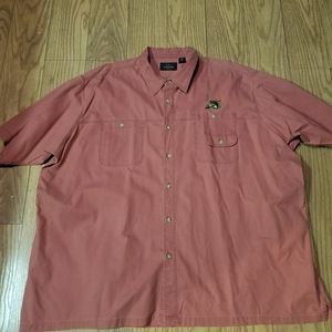 Redhead chamois red shirt embroidered bass